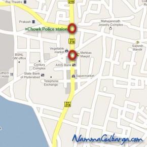 Super Market Area Gulbarga Gulbarga Map