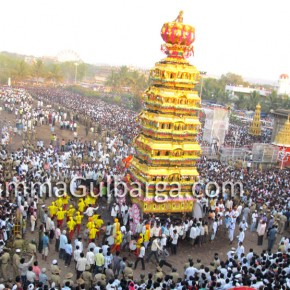 Thousands of devotees participated in the Sharanabasaveshwar temple car festival, Gulbarga