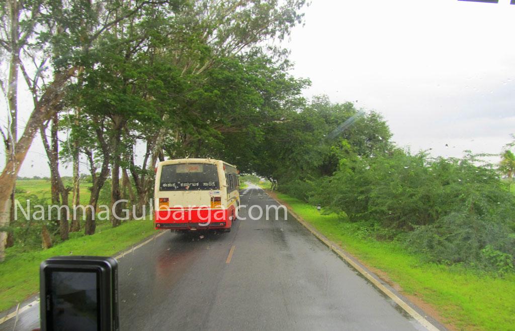 Gulbarga to yadgir Road