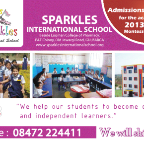Admissions are open for Sparkles International School(CBSE) Gulbarga