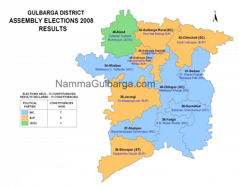 Gulbarga District election results