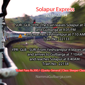 Solapur Express Tri-weekly train to be daily train from today
