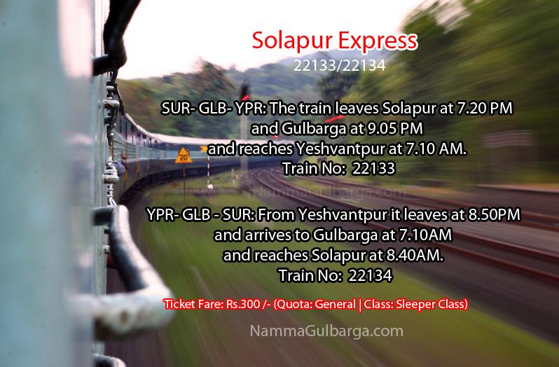 Solapur Express Gulbarga